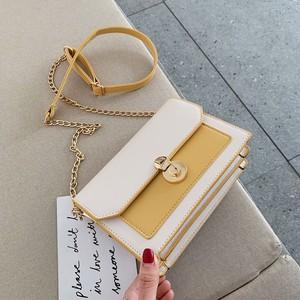 【バッグ】絶対可愛いシンプル切り替え配色ショルダーバッグ43027033