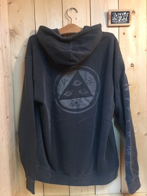 WELCOME Tali-Scrawl Pigment Dyed Hoodie - Black/Color-Shift
