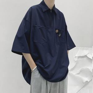 ハーフジップポケットシャツ BL8822