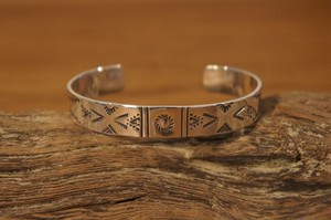native silver bangle