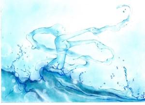 複製原画ポストカード「水の妖精」
