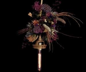 1920us Antique hanging lamp Lotus