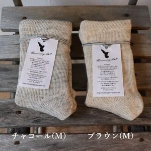 【Humming bird (ハミングバード)】裏シルク2重編みルームソックス (M:22~24cm)