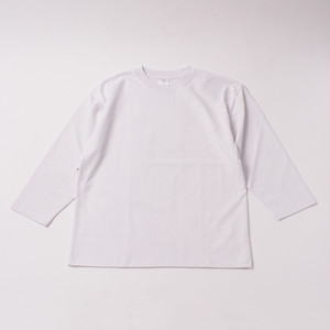 Smooth Heavy Embroidery Cropped Sleeve designed by Joji Nakamura / WHITE