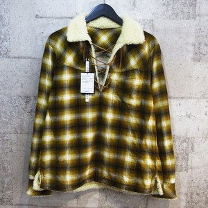 n(n) by number (n)ine PULLOVER BOA CHECK SHIRT