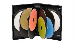 多数枚収納DVDトールケース 10枚用 黒 10個セット