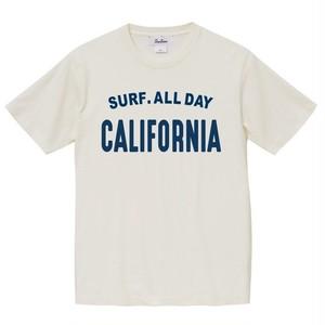 SURF.ALLDAY CA Tee - Vintage white