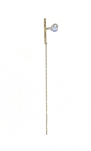 TE-0011-G 【Twig -dripping- gold earring】