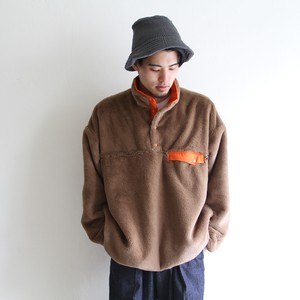 is-ness【 mens 】reversible pullover fleece jacket