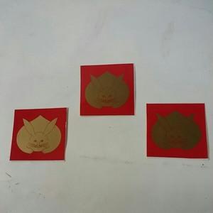 家紋ステッカー「兎」(3枚組)屋外可・送料無料
