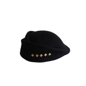 hntbk RRFW1931 fur felt Draped beret(BLACK)