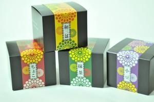 菊箱カステラ(抹茶・チョコ・和三盆)