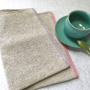 手織りリネンキッチンクロス