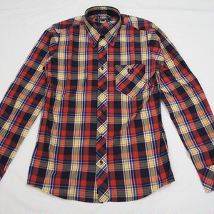 VIVID COLOR CHECK 長袖BDシャツ NAVY/RED/YELLOW