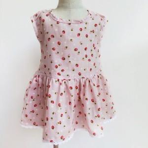 野いちごのふんわりワンピース(ピンク)