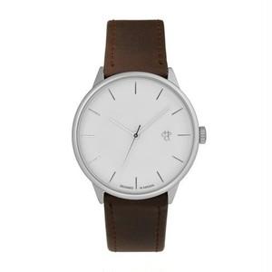 【CHPO】Khorshid Silver Silver dial / Brown vegan leather strap