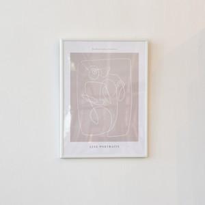 ポスター30cm×40cm / line portraits(フレーム付き)