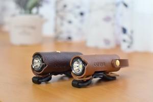 【CATEYE×maware】革カバーのレトロな自転車フロントライト