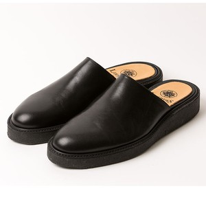 leather mule/BLK,GRN/LIBERTAS【即納】