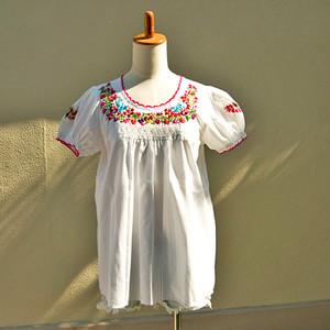 メキシコ オアハカ サン・アントニーノ 刺繍ブラウス(#MSBL9)