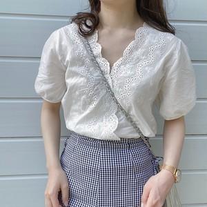 lace design  blouse [4/19n-11]※再販の予定はございません