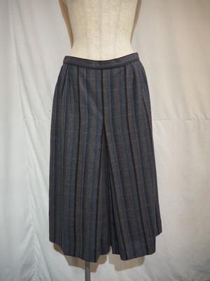 Herringbone Alternate Stripled A-Line Skirt [O-372]
