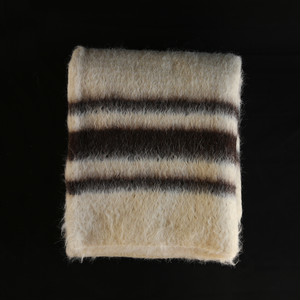 Cobertor de Papa ブランケット - ホワイト × ブラウン