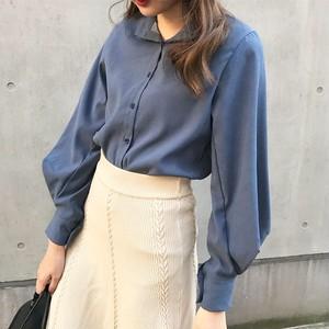lady like collar blouse