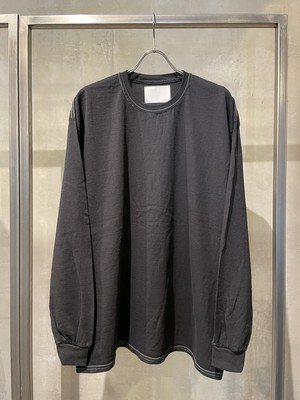 TrAnsference loose fit long sleeve T-shirt  - imperfection black