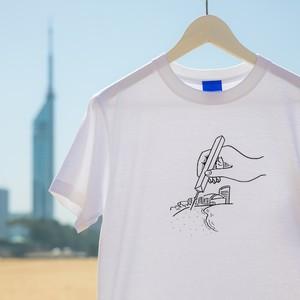 FUKUOKA TOWER PENCIL 福岡タワーTシャツ(ホワイト)