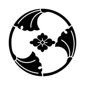 三つ割銀杏に花菱 aiデータ
