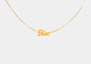 チグハグカラー ネックレス「Blue」