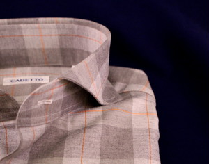 CADETTO ORIGINALS SHIRTS Grey×Orange Check