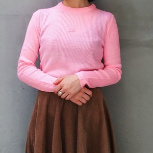 Courreges pink rib knit