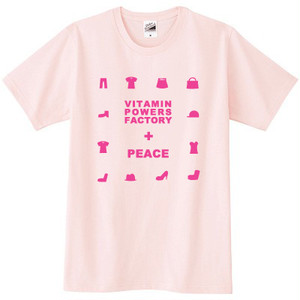 PEACE Tシャツ ライトピンク