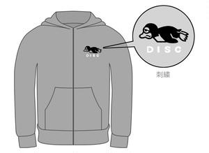 PENGUIN DISC ジップパーカー(刺繍ロゴ)