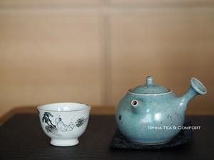 Warm & Cool Blue Teapot from Japan, Jinpachi Ogawa,