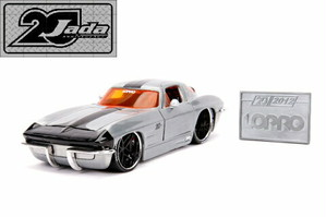 "JADATOYS 20th Anniversary 20周年記念シリーズ1/24 ミニカー LOPRO ""1963 CHEVY CORVETTE STING RAY"""