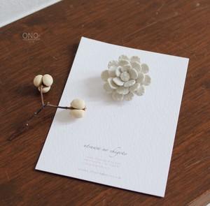 器のしごと お花ブローチ