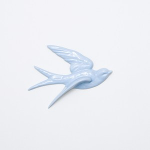 bird wall deco L blue (outlet)
