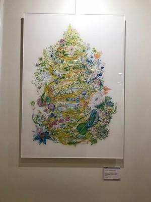 85.5x60.5cm size of Shirakumo Tomoko Geclee print with acrylic surface 白雲友子 原寸大ジークレー複製原画