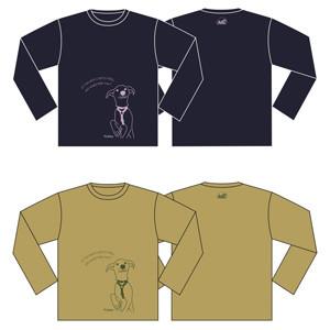 長そでTシャツ [犬]【Lサイズ】Long-sleeved t -shirt [Dog]【L size】