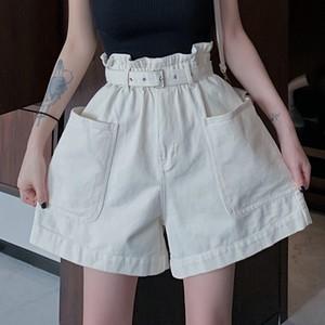 【ボトムス】ファッションハイウエストデニムショートパンツ28067394