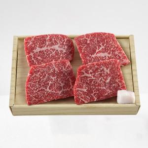 松阪牛ステーキ用 モモ肉×4(計450g) <冷凍便>