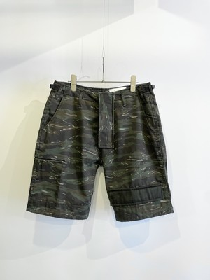 TrAnsference tiger camouflage shorts - pigment dyed effect