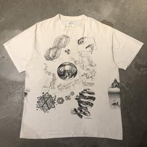 90's M.C.ESCHER エッシャー 白Tシャツ