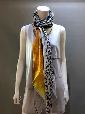LARIOSETA(ラリオセタ)OK969/21611 Col.001 麻(リネン)100% プリントスカーフ