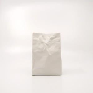"""MoMA"" 永久収蔵品 名作花器 new crinkle super bag #3 -Mサイズ- ホワイト"