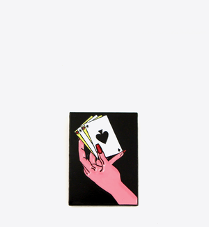 """BALL&CHAIN""""CARDS LAPEL PIN"""""""