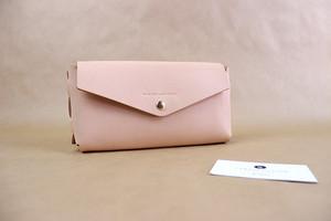 JAPAN LANSUI DESIGN 名入れ対応 ヌメ革手作り MINIクラッチバッグ 小物入れ 品番ADF334